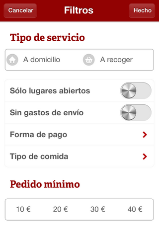 La Nevera Roja - App para pedir comida desde el móvil