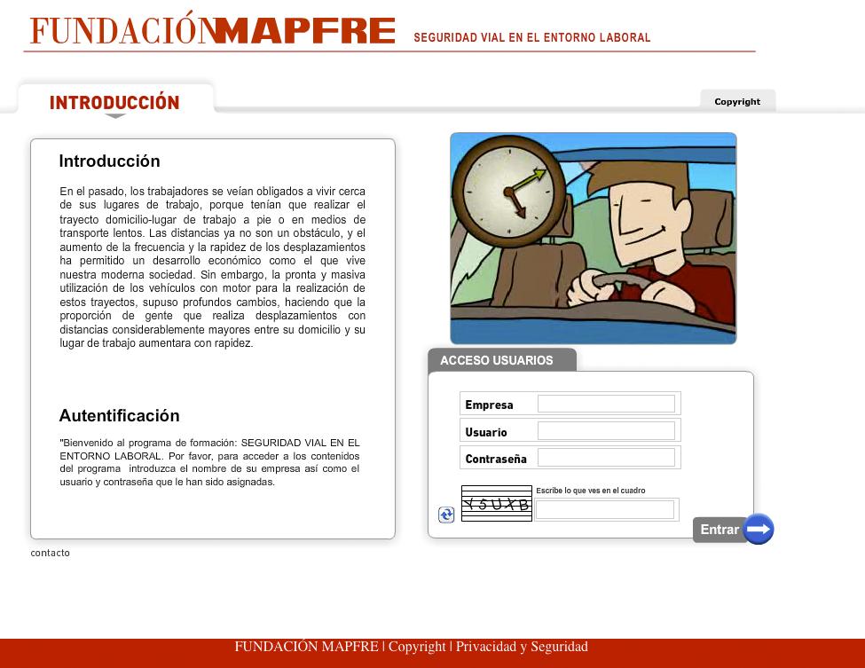 Aplicación de mejora de conducción para la fundación Mapfre
