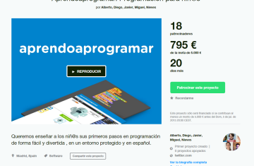 Kickstarter para proyectos en España